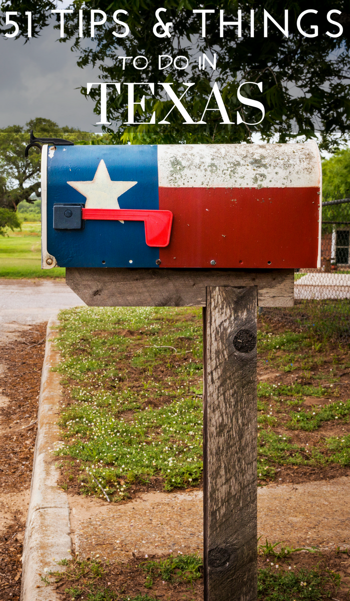 51 things to do in texas. Texas flag mailbox.