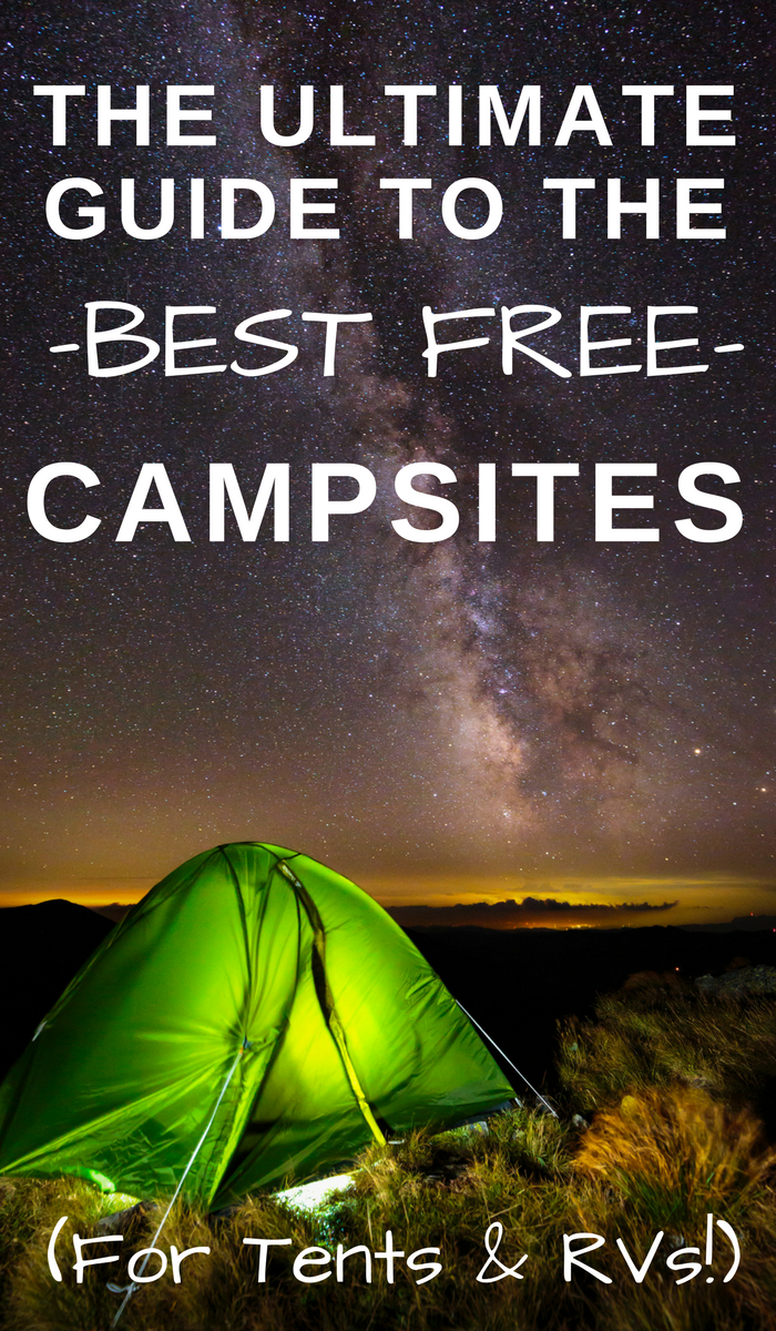 Green tent light and pitched under a stary night sky. How to Find the Best Free Camping Sites & Free RV Camping