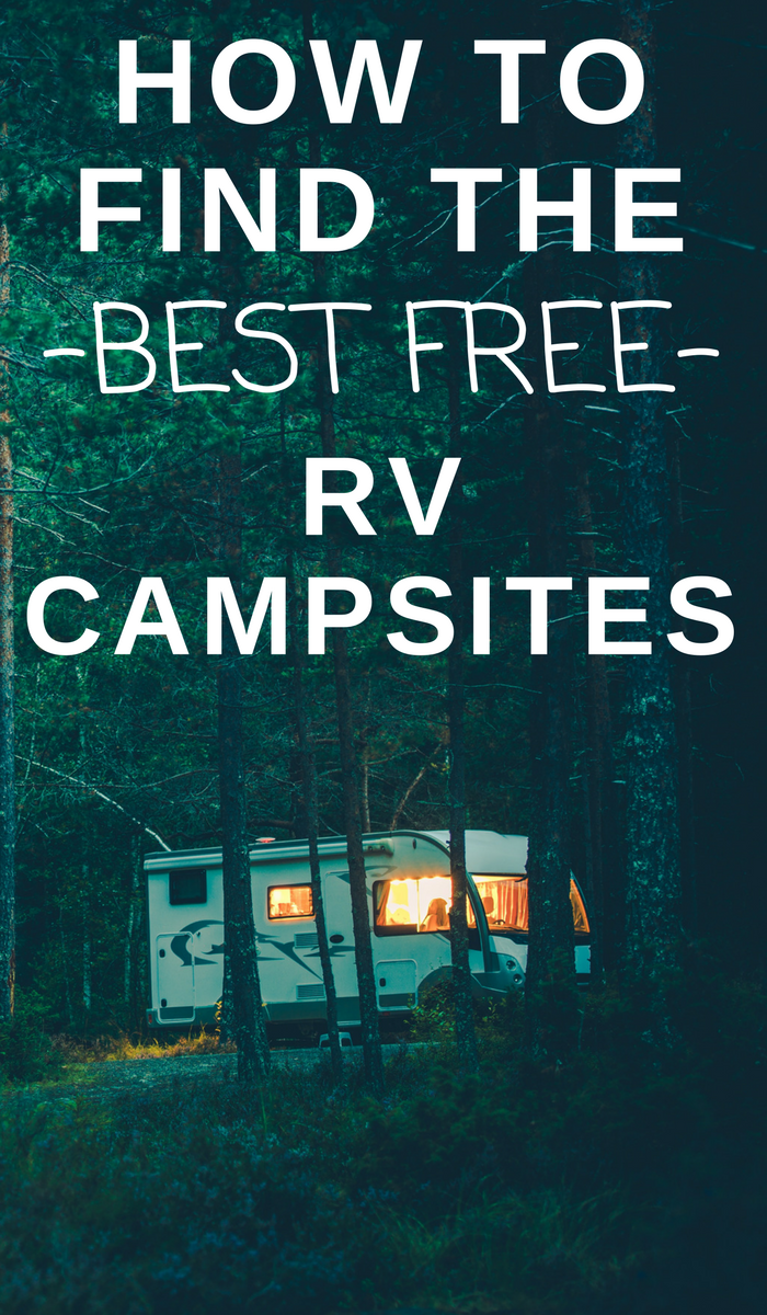 RV camped in the woods. How to find free rv campsites.
