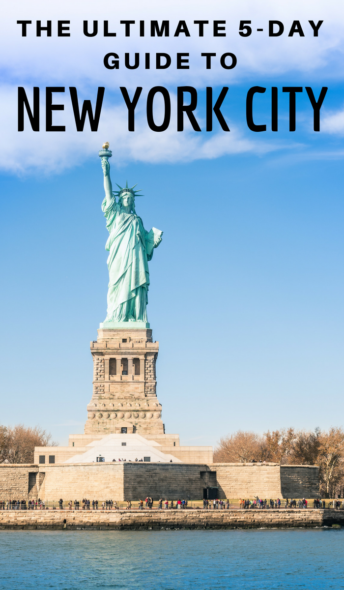 The statue of liberty. The Ultimate 5-day guide of New York City Things to do