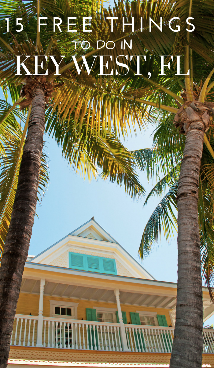 Key West Florida House and Palm trees