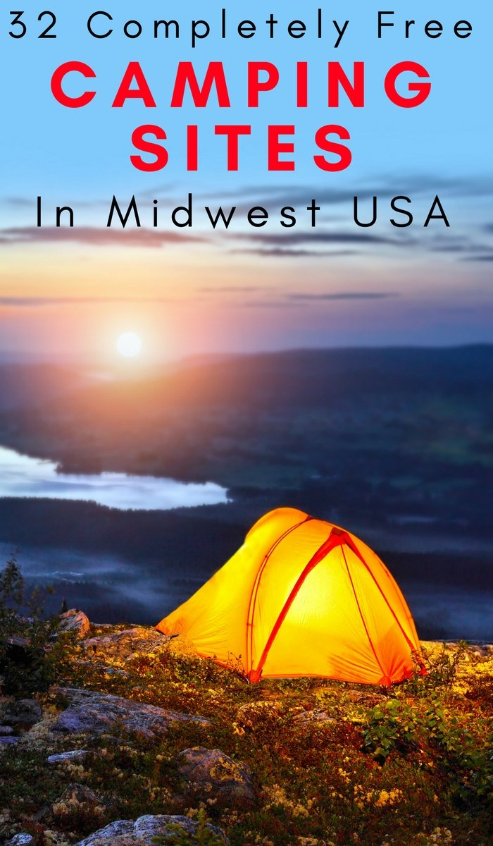 32 Completely Free Camping Sites in Midwest USA