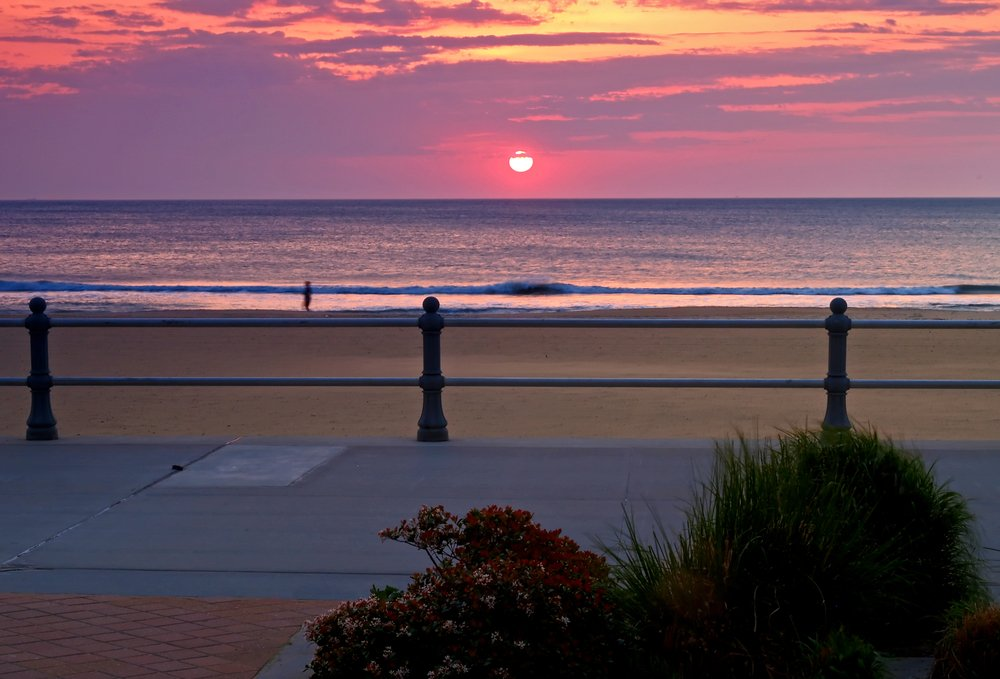 Sunrise on Virginia Beach Boardwalk