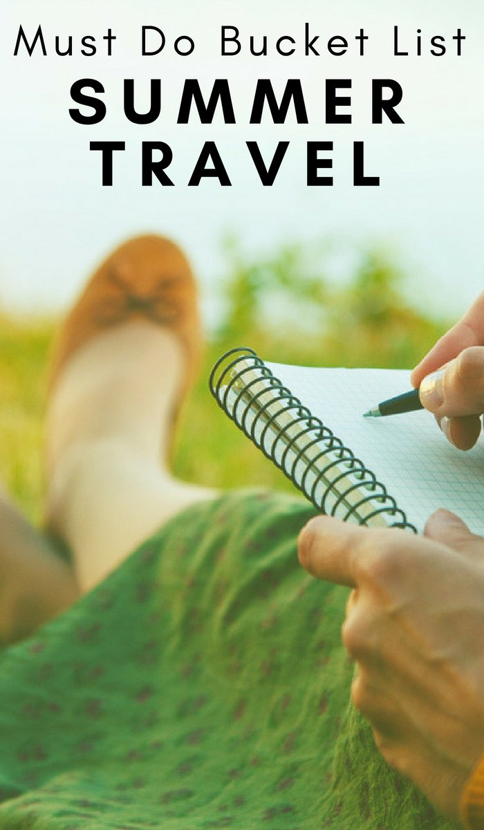 Creating a bucket list is a great way to make sure you hit all the travel adventures you can. Start with this Ulitmate Summer Bucket List. #bucketlist #ourroaminghearts #summertime #travel   Summer Travel   Summer Bucket List   Bucket List