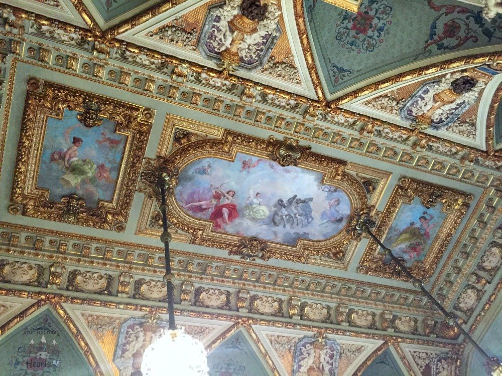 The Breakers Newport Mansion Ceiling