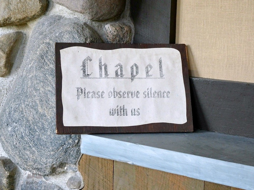 The Abbey of Genesee Chapel Sign