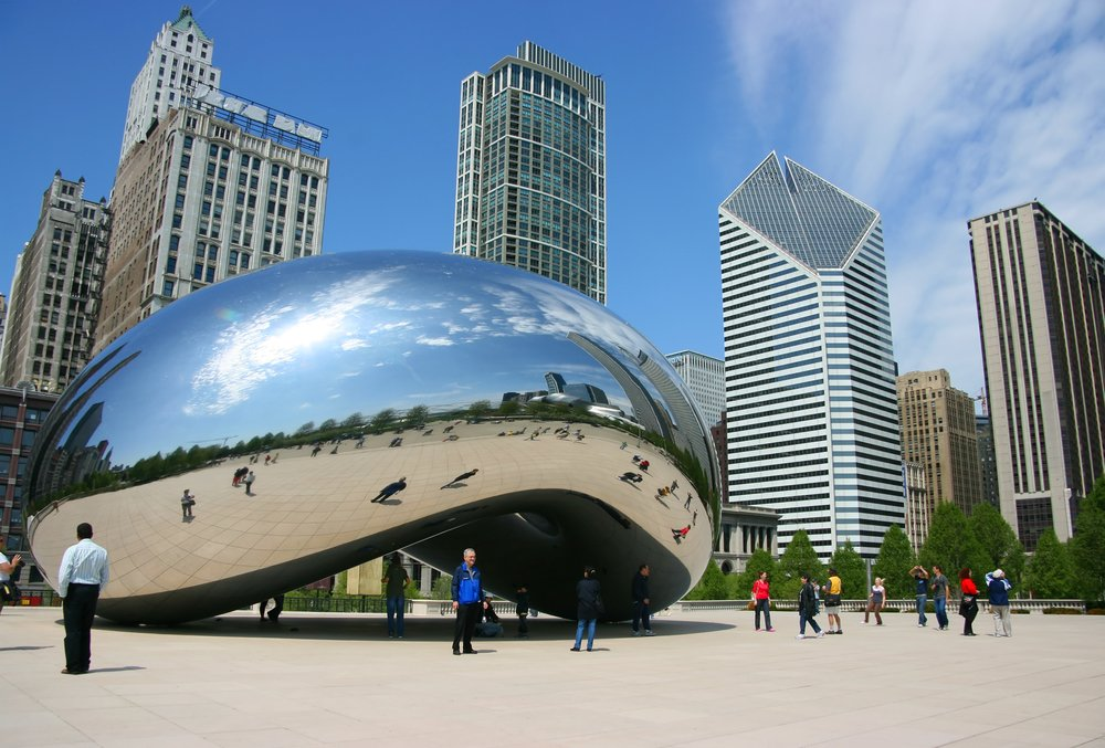 Cloud Gate sculpture aka