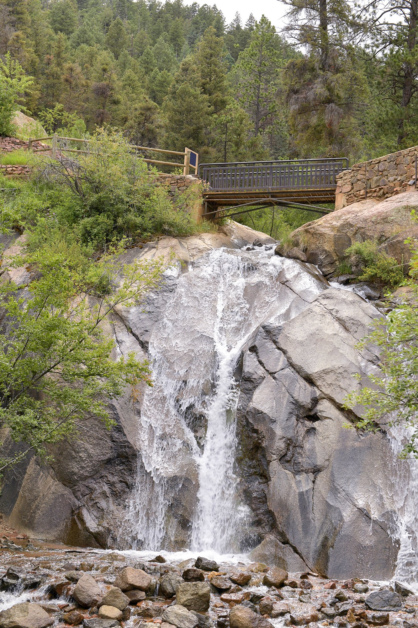 Helen Hunt Falls - Waterfall and bridge in Colorado Springs