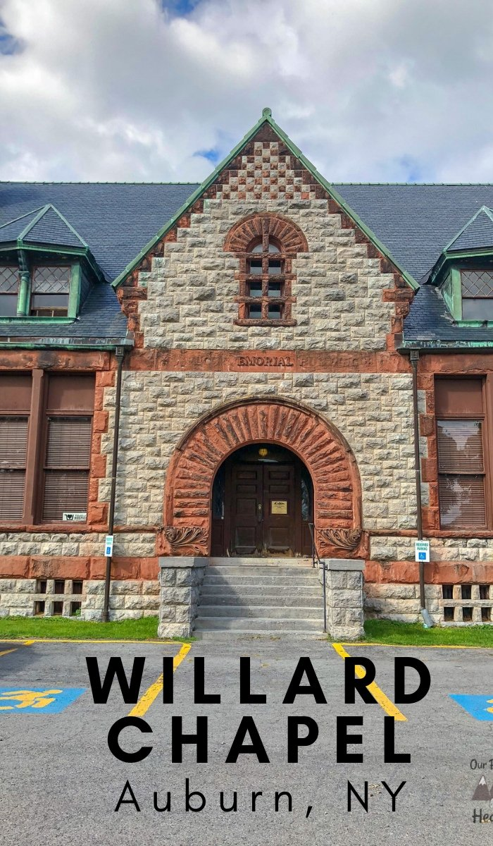 If you haven't taken a trip to see the awe-inspiring Willard Chapel in Auburn NY, see the history of Willard Chapel - Tiffany Chapel to get you interested! #tiffanychapel #willardchapel #auburn #newyork #ourroaminghearts | Auburn NY | New York Places to See | The Tiffany Chapel | The Willard Chapel | History