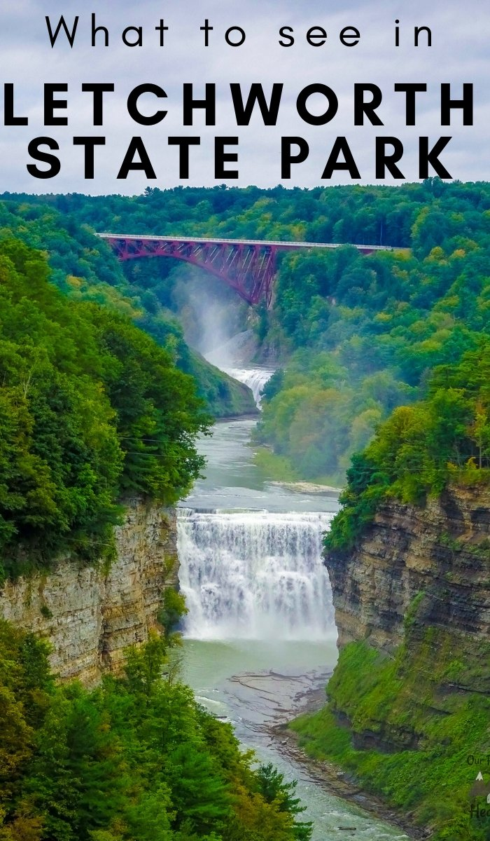 Surrounded by majestic waterfalls and lush green forests, there is a rich history that goes along with many things you can do at Letchworth State Park, NY. #ourroaminghearts #letchworthstatepark #stateparks #newyork #thingstodo | Things to do in New York | Letchworth State Park | State Parks In New York | Travel |