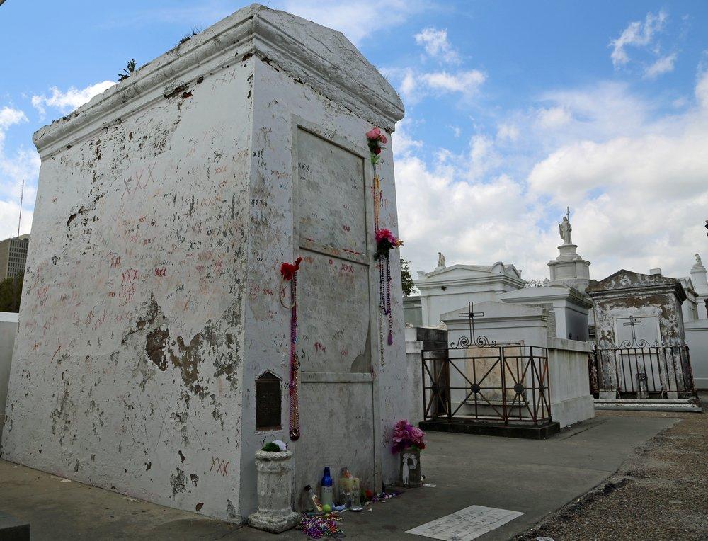 Marie Laveau's Mausoleum in St Louis Cemetery, New Orleans, Louisiana