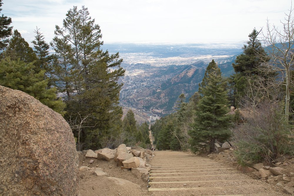 The Manitou Springs Incline in Colorado