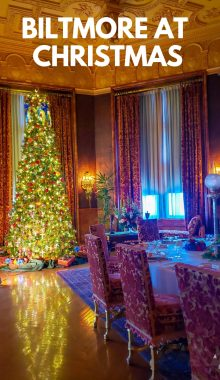 Christmas is the perfect time to take a visit to the Biltmore Estate. Christmas is a feast for your senses and a magical experience you won't want to miss. #BiltmoreEstate #Christmas #NorthCarolina #ourroaminghearts | Biltmore Estate at Christmas | Visiting the Biltmore Estate | North Carolina Travel |
