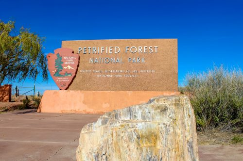 Petrified Forest National Park Sign Route 66 Calendar
