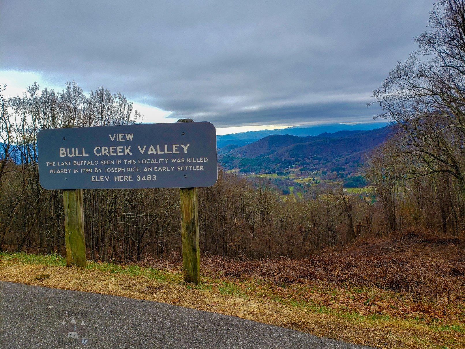 Blue Ridge Parkway, Bull Creek Overlook