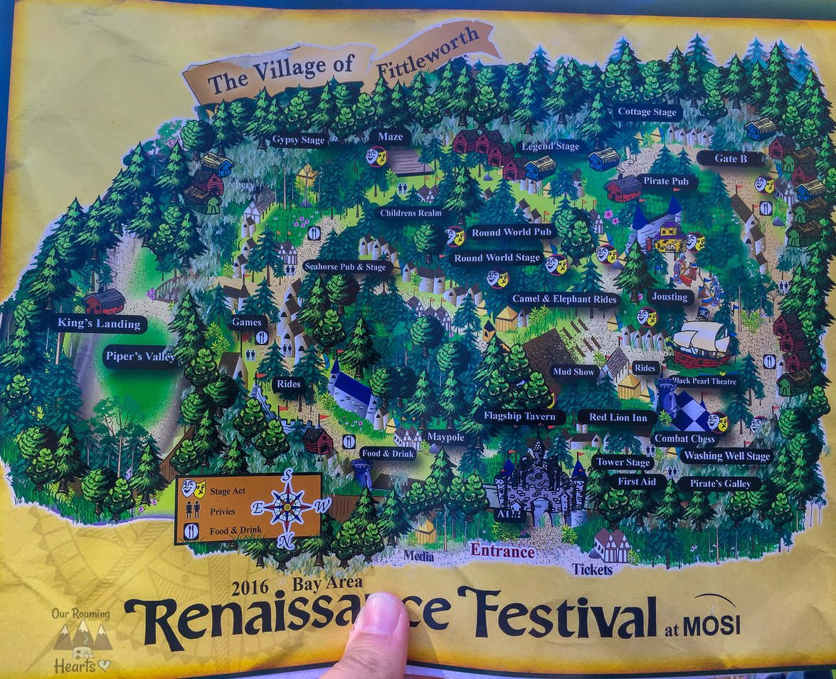 Ultimate Guide to the Bay Area Renaissance Festival Map