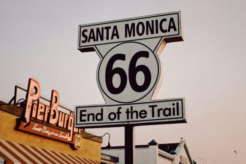Santa Monica Route 66 Sign - Route 66 Calendar