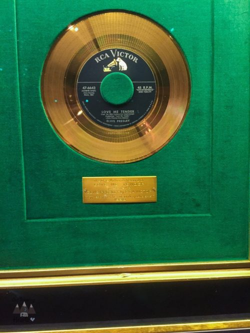 1 Millionth Record of Love Me Tender Elvis Presley