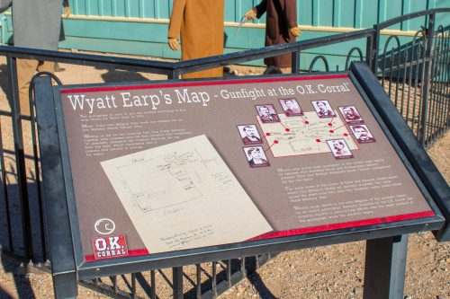 Wyatt Earps Map of Ok Corral Fight