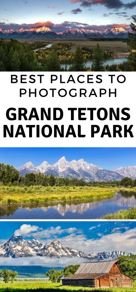 Some amazing photographs have come out of the Grand Teton National Park. Here are 12 of the Best Places to Photograph in Grand Teton National Park. #photography #grandtetonsnationalpark #ourroaminghearts #nationalpark #wyoming | Outdoor Photography | Wyoming | National Parks | Grand Tetons National Park | Wilderness Photography