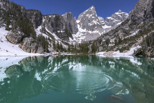 Delta Lake, Grand Teton National Park, Wyoming, USA