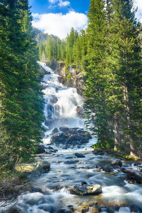 Hidden Falls - Best Hikes in Grand Teton National Park
