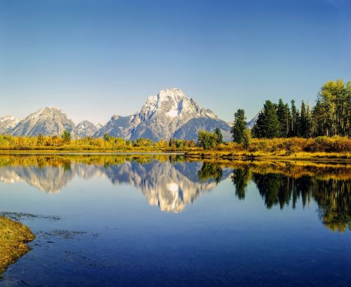 Mt.Moran and Oxbow Bend in Wyoming