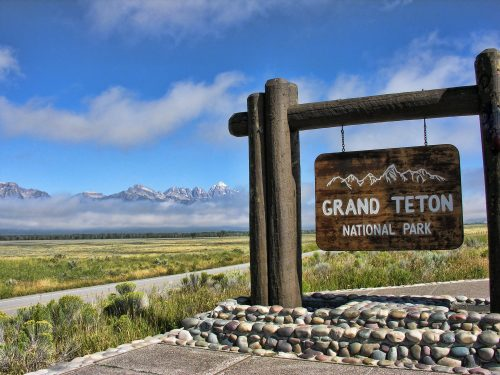 Grand Teton National Park, Wyoming South Sign