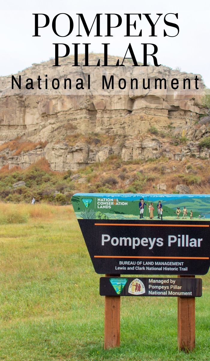 Pompeys Pillar National Monument is physical evidence of the Lewis and Clark expedition. William Clark left his signature etched into this rock, you have to see it! #lewisandclark #montana #billings #nationalpark #ourroaminghearts | Lewis and Clark | Montana Travel | Billings, Montana | National Parks | Sacagawea Facts