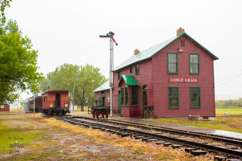 Lodge Grass CB & Q Railroad Depot - Big Horn County Museum - Hardin Montana