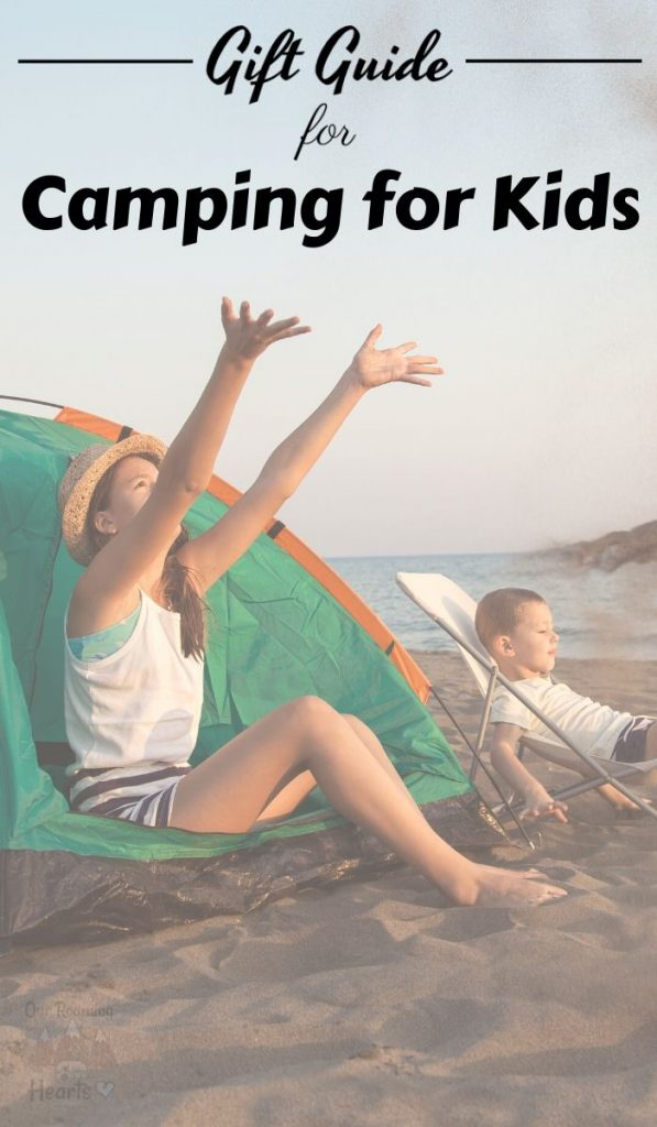 Get your kids into camping! Now sure how to start? Use this list of the Best Camping Gift Ideas for Kids to peak their interest. #ourroaminghearts #camping #giftguide #giftideasforkids #campingwithkids | Camping with Kids | Camping Gift Guide | Gift Guide | Camping Gifts for Kids |
