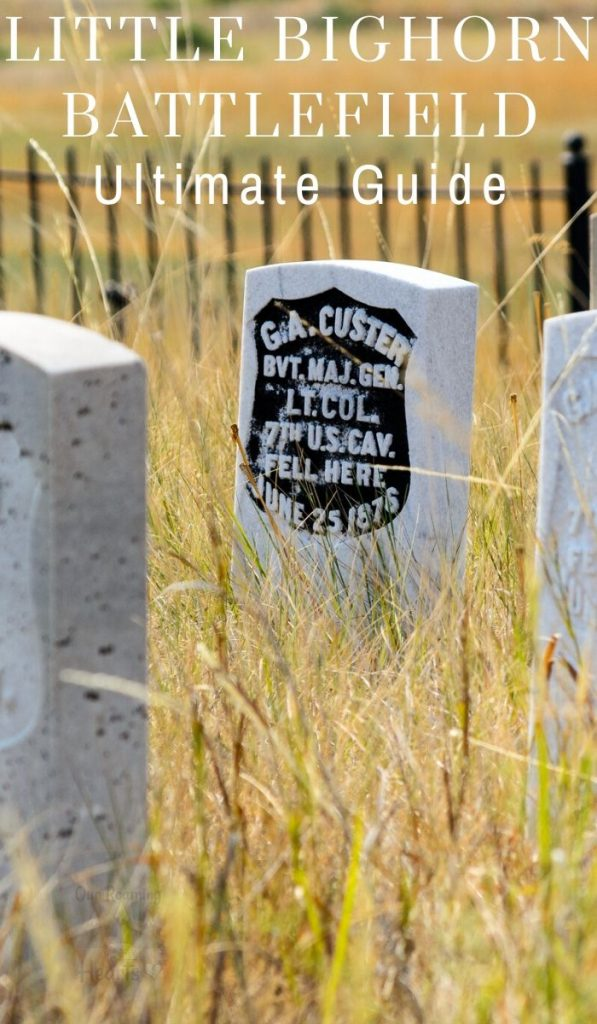 Battle of Little Bighorn, is the battle where Custer met his death. Set on the Crow Reservation the Little Bighorn Battlefield is a must-see! #ourroaminghearts #battleoflittlebighorn #montana #billings #custerslaststand #nationalmonument