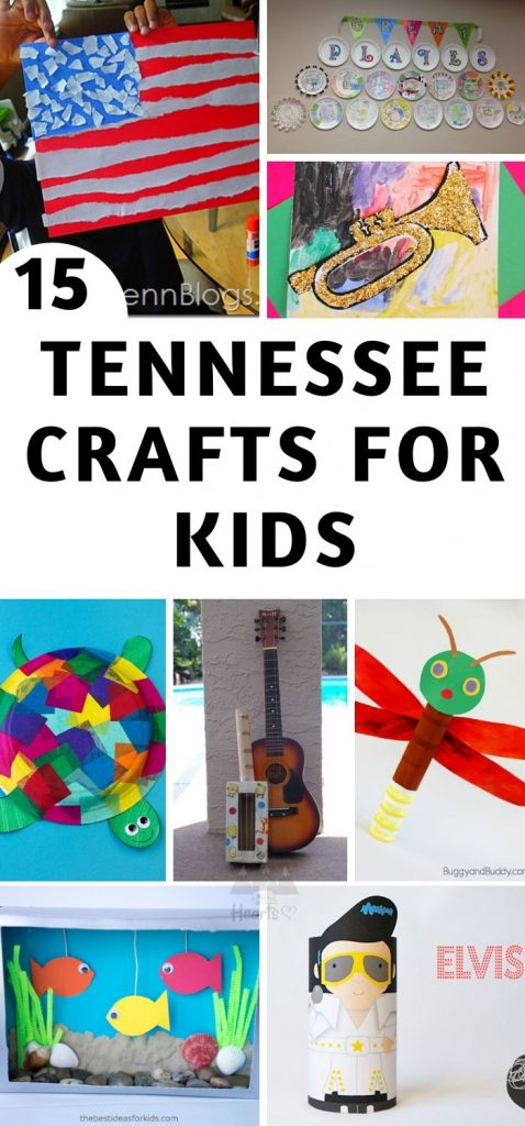 These are my top Tennessee Crafts for our unit study!Some crafts are on the state itself, others are different animals, people, and locations across Tennessee. #tennessee #ourroaminghearts #craftsforkids #tennesseeunitstudy #roadschooling   Roadschooling   Tennessee Unit Study   Easy Crafts for Kids   Learning about Tennessee