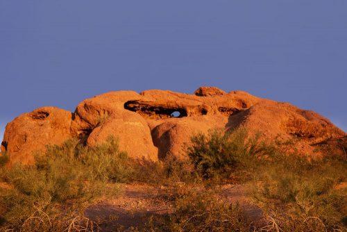 Famous hole in the rock, Papago Park,Phoenix,Arizona