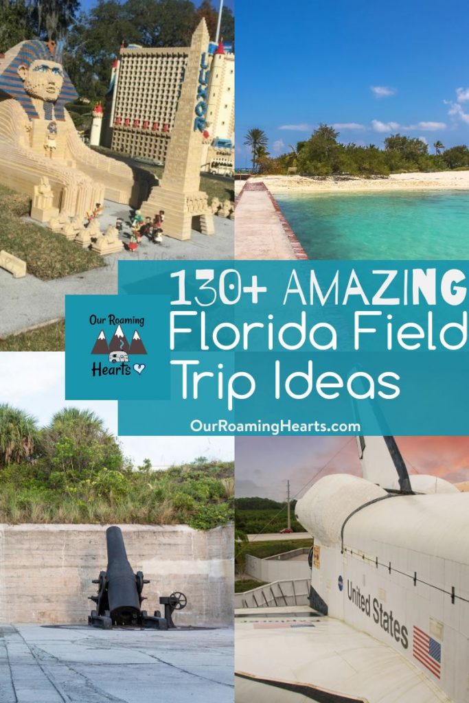 Going on field trips is the highlight of any homeschool kids' day. Here are over 130+ Top Florida field trip ideas the whole family will love.#ourroaminghearts #florida #roadschooling #homeschooling #fieldtricps #floridaunitstudy | Florida Unit Study | Florida Field Trip Ideas | Roadschooling | Homeschooling Ideas |